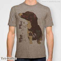 Anchorman Dachshund Puppy Dog Graphic Print Movie Quote Jersey T-Shirt Tee Shirt For Him Brown Yello