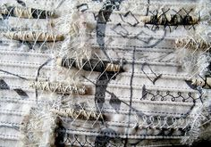 'Snow Writing' detail by stitchworks-jackie, via Flickr
