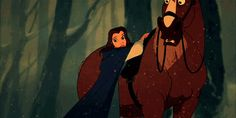 I love this moment in Beauty and the Beast, where Belle consider's leaving Beast in the snow and then she saves him.