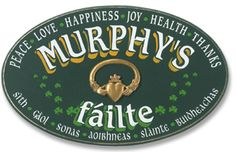 Personalized Claddagh Family Name Wooden Welcome Sign