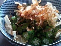Japanese Home Cooking: Okura no Aemono (Okra salad) Japanese House, Okra, Cabbage, Salad, Vegetables, Cooking, Beverages, Foods, Home