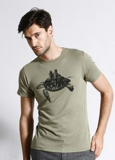 Turtle City M - Organic T-Shirt from brooklyn industries. $38