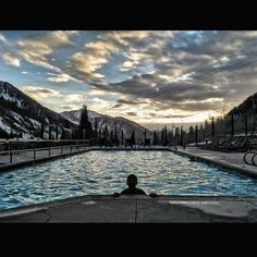 Simply the best way to end a day - at The Cliff Lodge Pool. Snowboarding, Skiing, Snowbird Ski, Spring Snow, Ski Resorts, Apres Ski, Mountain Resort, Resort Spa, Cliff