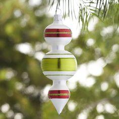 Retro Double Bubble Drop Ornament | Crate and Barrel