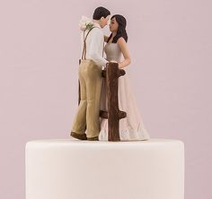 The Rustic Couple Porcelain Figurine Wedding Cake Topper Is Perfect For Looking To Add