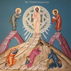 """""""This is my chosen Son;"""" OPENING PRAYER You were transfigured on the mountain, O Christ our God, revealing as much of your glo… Images Of Christ, Pictures Of Jesus Christ, Religious Icons, Religious Art, Transfiguration Of Jesus, Trinidad, Greek Icons, Church Icon, Catholic Art"""