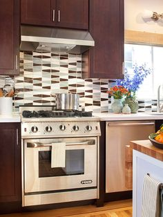"""Around Your Stove  """"Think of all the spills between the stove & the counter, add ambient heat from the stove to the mix, & you have the perfect place for germs to thrive.""""  Clean it: You'll have to pull the stove out. Make this easier & protect your flooring with furniture sliders under the feet of the stove. Once it's pulled out, scrape off buildup w/a plastic putty knife, then spray the sides of the oven w/oven cleaner. Use a good all-purpose cleaner on adjacent cabinets and floor."""