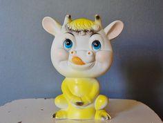 Rubber Squeak Toy Anthropomorphic Cow Kitsch by SeeDollyRun, $16.00