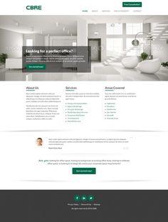 Clean, Modern, Professional Commercial Office Leasing Website by teardrops285