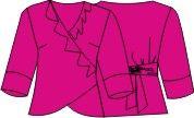 wikkelblouse maat 48 - 50 met patroon