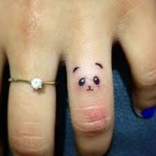 2017 trend Tiny Tattoo Idea - Panda finger tattoo...