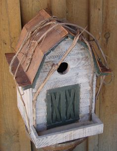 This whimsical bird house can fit into the décor of any garden, but also adds a distinct country feel to your natural surroundings. Available at www.mondusdistinction.com