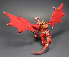 Drakkirion Wingspan | Drakkirion has a wingspan more than 19… | Flickr Lego Dragon, Cool Lego, Awesome Lego, Lego Sculptures, Briar Rose, Building Systems, Lego Moc, Lego Creations, Lego Ninjago