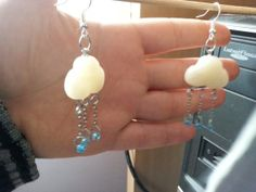 pendientes nubes con lluvia earings cloud with por CositasWithFimo, €9.99