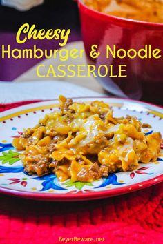 Macaroni Hamburger Casserole, Creamy Chicken Casserole, Hamburger Dishes, Ground Beef Casserole, Hamburger Recipes, Tomato Dishes, Tomato Soup Recipes, Pasta Recipes, Cheese Noodles