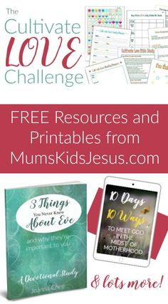 FREE resources and printables for mums, moms and wives! Family, marriage, meet with God. Click the pin! via @ Joanna Mums.Kids.Jesus
