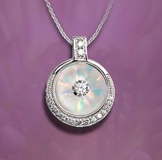 Galatea 14K Circular Illusia Pendant