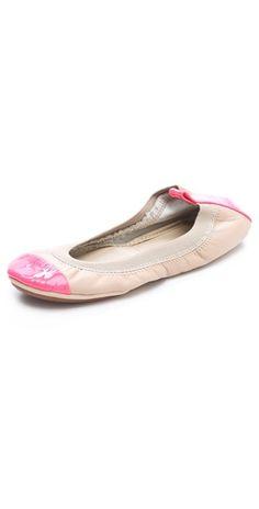 Yosi Samra Nude Neon Pink http://www.yosisamra.com/women/classic-ballet-flats/samara-two-tone.html