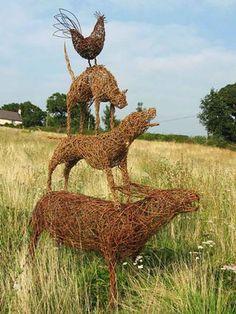 Willow Sculpture Gallery Modern Sculpture, Abstract Sculpture, Sculpture Art, Garden Sculpture, Metal Sculptures, Bronze Sculpture, Willow Garden, Veg Garden, Living Willow