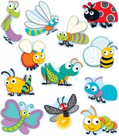 """Carson-Dellosa """"Buggy"""" for Bugs Cut-Outs Teacher Cubby Tags, Calendar Activities, Sorting Activities, Art For Kids, Crafts For Kids, Carson Dellosa, Bugs And Insects, Classroom Themes, Classroom Setting"""