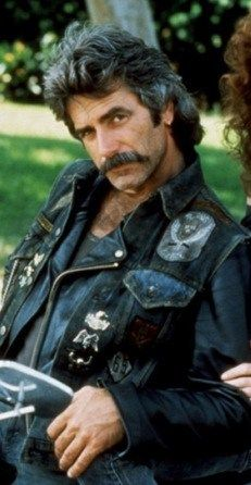 "Sam Elliot, is so sexy in the movie ""MASK"" I want my Harley boyfriend ""Bubba"" to look like him! I would look good sitting on the back of his bike!"