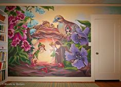 Tinkerbell, how awesome!  I would love to paint this on some lucky kids wall <3
