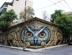 Street Art by WD in Athens, Greece