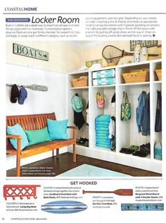 Awesome to see one of our shops featured in Coastal Living Magazine! It's the surf board rack from The Project Cottage