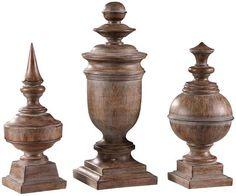 Antique Finials - Set of 3 - Home Accents - Home Decor - Sculptures   HomeDecorators.com