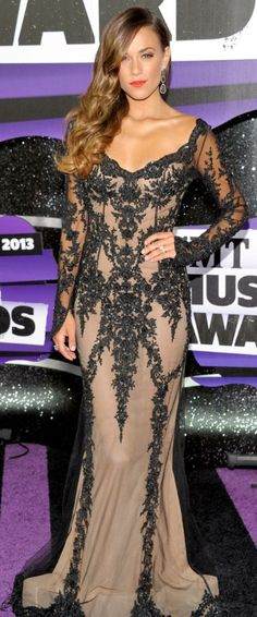 Jana Kramer - 2013 CMT Awards > Gown: Pavoni by Mikael D
