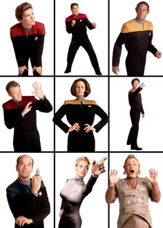 mental-leaps:  The Voyager crew (they have the most ridiculous publicity shots!)
