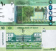 Banknote: South Sudan 10 Pounds 2011 Unc 2 Pcs Consecutive Pair P.73