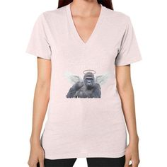 Good-Night, Sweet Harambe V-Neck (on woman) Shirt