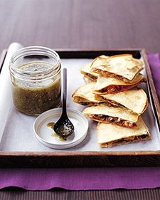 Spinach and Mushroom Quesadilas. The quesadillas can be assembled through step 3 several hours ahead of time