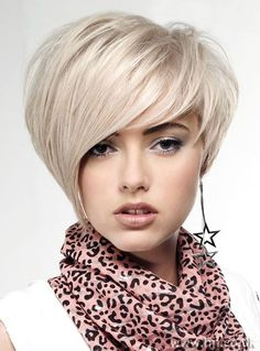 Asymmetrical Bob hairstyle with layers