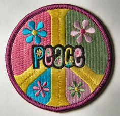 & Hippie Peace Patch to cover the mandatory hole in the butt of your bell bottoms! 70s Hippie, Happy Hippie, Hippie Love, Hippie Art, Hippie Chick, Peace Love Happiness, Peace And Love, Feelin Groovy, Give Peace A Chance