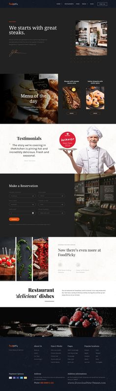 FoodPicky is clean and modern design 9in1 responsive #WordPress theme for #restaurant and #cafe website download now..