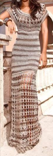 Crochet-mine: long dresses (charts)