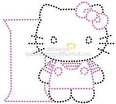 i | Alfabet Hello Kitty by Dwergje | glittermotifs
