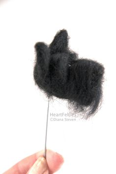 HeartFelties: All in the face - Scottish Terrier needle felted dog head