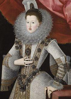 El Estanque le diamant bleu perdu de la couronne d'Espagne - Marguerite d'Autriche portant El Estanque