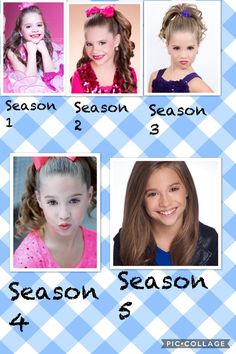 Mackenzie Ziegler though the years on dance moms pyramid