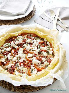 Recette Facile Tarte au Pistou, tomates et feta