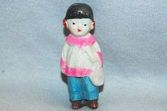 Vintage / Bisque Doll / Girl / Asian / Girl / Mandolin / Musical Instrument / frozen charlotte / penny doll / Vintage Dolls by AmericanHomestead on Etsy