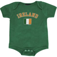 Ireland Infant Arch Over Country Flag Creeper - Green