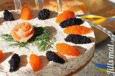 Cheesecake med lax och räkor - Jills Mat