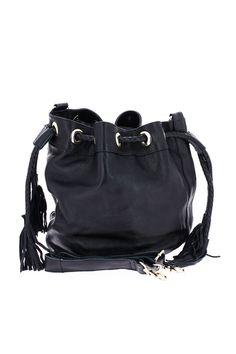 Sac seau à franges noir - Zonedachat Bucket Bag, Bags, Fashion, Fringe Coats, Leather, Handbags, Moda, Fashion Styles, Pouch Bag