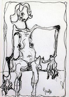 George Dunne-Waiting #art #painting  #DukeStreetGallery #penandink #ink #drawing Street Gallery, People Talk, Waiting, Ink, Drawings, Artist, Artists, Sketches, India Ink