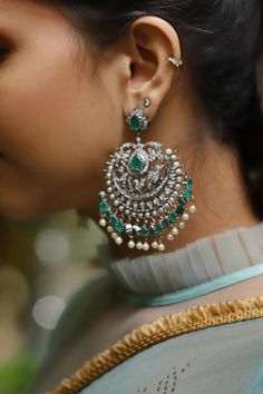Buy Designer Blouses online, Custom Design Blouses, Ready Made Blouses, Saree Blouse patterns at our online shop House of Blouse from India. Jewelry Design Earrings, Statement Jewelry, Jewelry Necklaces, Wire Bracelets, Bangles, House Of Blouse, Temple Jewellery, Gold Jewellery, Victorian Jewelry