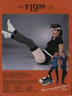 adds 80's Get in shape, girl! (from 1983 Sears catalog)- how times have changed!